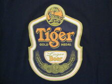 Hot-Ice Tiger Gold Medal Lager Beer Drink Fan Navy T Shirt M