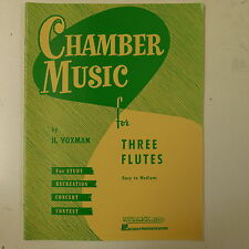 flute music VOXMAN chamber music for three flutes , easy-medium