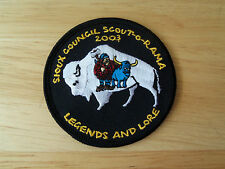 Boy Scout Patch Sioux Council Scout-O-Rama Legends And Lore 2003