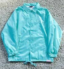 Diamond Supply Co. Shine Blue White Paris Logo Jacket Button Up Mens Size Large