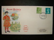 1975 6.5p & 8.5p nouveau definitives stuart fdc & london e.c. shs cv £ 5