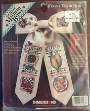 "Debbie Mumm Counted Cross Stitch Front Door Bow Kit ""Mumm Seed""  Dimensions New"