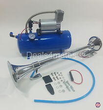 63CM TRUMPET AIR HORN 12V 150DB CAR TRUCK RV WITH 150 PSI 6 LITER AIR COMPRESSOR