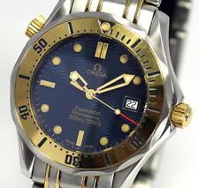 Auth OMEGA Seamaster Professional 300m SS/YG Mid-size Watch Quartz w/Gara_299525