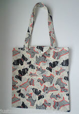 RADLEY - FLEET STREET - CREAM FOLDAWAY TOTE SHOPPER BAG - RADLEY DOGS - RRP £16