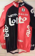 Biemme LOTTO Mens 3XL Cycle Jacket Thermal RED BLACK Zip Front Long Sleeve