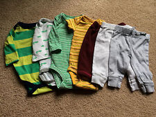 Baby BOY Newborn 0-3 month Pants Bodysuit One-Piece LOT Carters Circo Old Navy