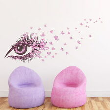 3D Eyes Flower Butterfly Wall Stickers Removable DIY Room Home Decor Decal Mural