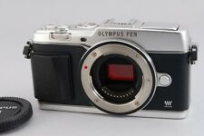 【B- Good】 Olympus E-P5 Silver 16.1 MP Mirrorless Digital Camera Body JAPAN #2518
