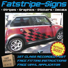 MINI CAR GRAPHICS VINYL STRIPES DECALS STICKERS COOPER S ONE JCW 1.4 1.6 CHECKER