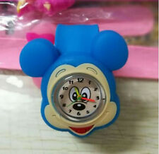Children New Lovable Cartoon Slap Snap On Silicone Wrist Watch Boys Girls Blue
