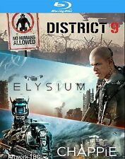 CHAPPIE / DISTRICT 9 / ELYSIUM - BLU-RAY - REGION B UK
