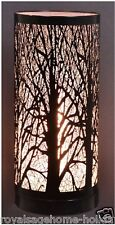 """LM1003 5X11"""" Birch Tree Table Lamp Touch Silhouette Accent Light Halloween Lodge"""