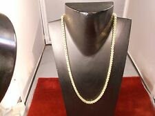 "GORGEOUS PERUVIAN 14K YELLOW GOLD NECKLACE - ""OPEN MESH LINK"" (4 x 4 RING LINKS)"