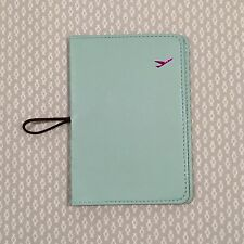 Travel Leather Passport ID Ticket Holder Card Cover Protector Wallet - Mint FS