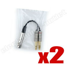 "PAIR 6 inch Y cable XLR FEMALE to 2 1/4"" TRS (ZP-YXLRF14D)"
