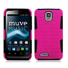 For ZTE Engage LT MESH Hybrid Silicone Rubber Skin Case Phone Cover Pink