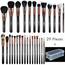 29pcs Pro Synthetic/Goat/Pony Hair Kabuki Cosmetic Makeup Brush Set Kit + BOX