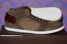 LOUIS VUITTON Cut Back Suede Olive Patchwork Damier Sneaker 12/13.5 US *LIMITED*