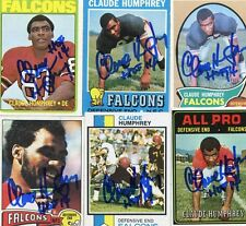 Atlanta Falcons Claude Humphrey Topps 1972 signed card