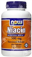 Sustained Slow Release Niacin, 500mg x250tabs;- CHOLESTEROL