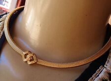 Vintage Necklace Signed Christian Dior Fine Stretch Collar W/ Deco Centerpiece