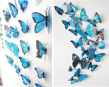 Blue 3D Butterfly Magnet Wall Stickers Art Decal Home Room Decorations Decor F13