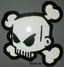 Ken Block 43 sticker adesivo riflettente Decal SKULL BIKE TESCHIO 10 cm