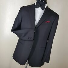 *ERMENEGILDO ZEGNA BLACK DINNER JACKET 3 BUTTON SIDE VENTS U.S. SIZE 42 REG.MINT
