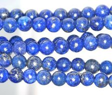 4MM AZURA LAPIS LAZULI GEMSTONE GRADE AA BLUE ROUND 4MM LOOSE BEADS 15.5""