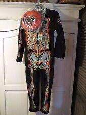 F&F boys glow in the dark skeleton costume/onesie & mask, fancy dress, 7-8 years