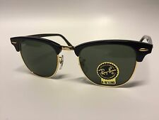 Ray Ban Damen Herren Sonnenbrille Clubmaster schwarz - NEU & Original - RB 3016
