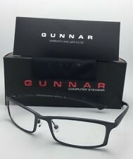 New GUNNAR Computer Glasses PHENOM 55-18 134 Graphite Frame w/Crystalline Lenses