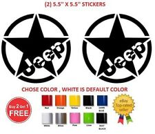 (#301) 2 X JEEP STAR WRANGLER  LAREDO CHEROKEE JK CJ TJ YJ Decal sticker