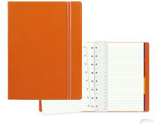 "Filofax Refillable A5 (5.8"" x 8.3"") Ruled Notebook, Orange"
