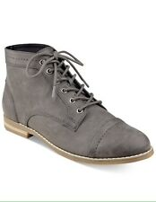 NWOB Women's Indigo Rd. Harts Lace Up Oxford Booties Shoes Dark Gray Size 8.5M