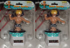 (2 Pack) Solar Powered Dancing Black Surfer Hang Ten NEW!