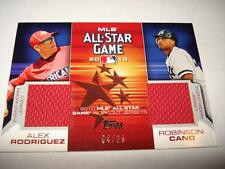 2010 Topps Update Dual All-Star Worn Jersey ALEX RODRIGUEZ & ROBINSON CANO 4/25