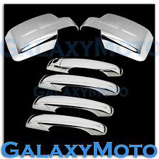 Triple Chrome plated Mirror+4 Door Handle Cover for 07-15 JEEP PATRIOT Combo Kit
