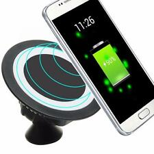 Qi Wireless Charger Dock Magnetic 360 Rotating Mount Car Holder Charging Pad