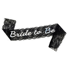 Bachelorette Bride to Be Black Lace Sash - Bachelorette Party - Bridal Shower -