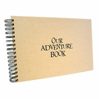 A5 A4 Our/My Adventure Scrapbook, Landscape, Card Pages, Photo Album, from UP