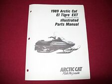 Arctic Cat El Tigre EXT OEM Illustrated Parts Service Manual 1989 Vintage sleds