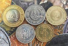 5 ALL DIFFERENT Coins set - BAHRAIN - Brilliant UNC