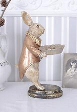 Gebäckteller Weisses Kaninchen Schale Dekoschale Alice im Wunderland