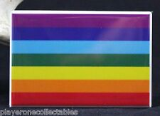 "Pride Rainbow 2"" X 3"" Fridge / Locker Magnet."