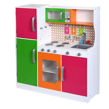 New Wood Kitchen Toy Kids Cooking Pretend Play Set Toddler Wooden Playset Gift