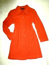 ANNE KLEIN Orange Terracotta WOOL Classic COAT Peacoat Trench Size 8 M