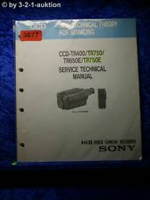 Sony technical service manual CCD tr400/tr750/tr650e/tr750e (#3677)