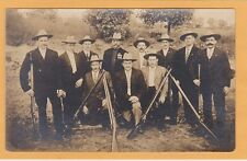 Real Photo Postcard RPPC - Group of Men with Rifles - Sharp Shooter